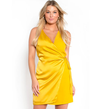 LEMON LIME WRAP DRESS