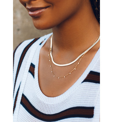 PICTURESQUE GOLD NECKLACE