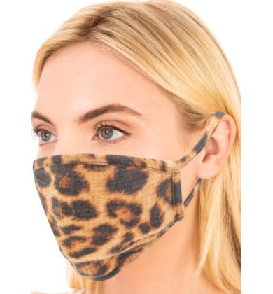 SIENNA LEOPARD FACE MASK