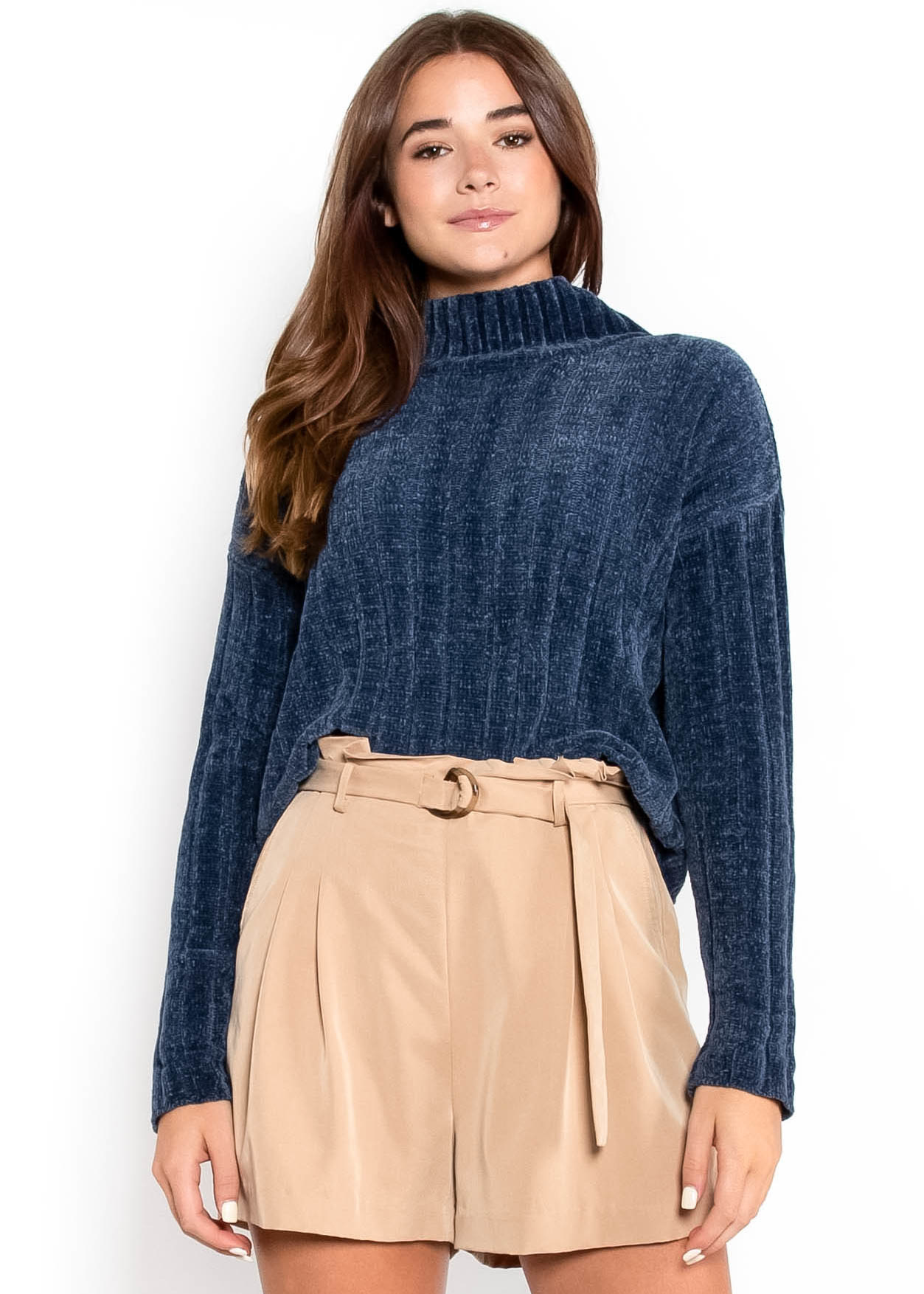 COME WHAT MAY SWEATER - BLUE