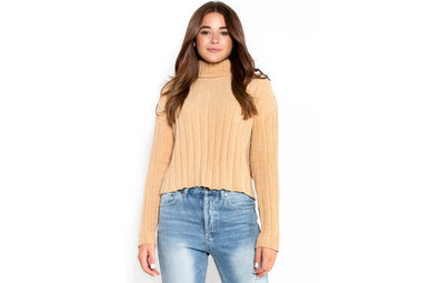 COME WHAT MAY SWEATER - CAMEL