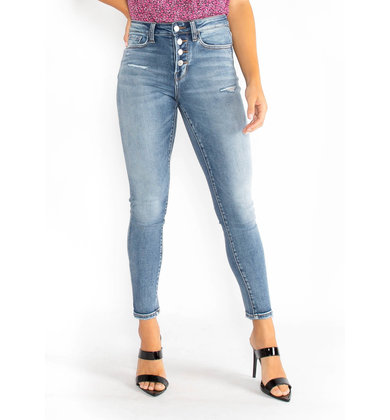 JUST MY TYPE  BUTTON FLY JEANS