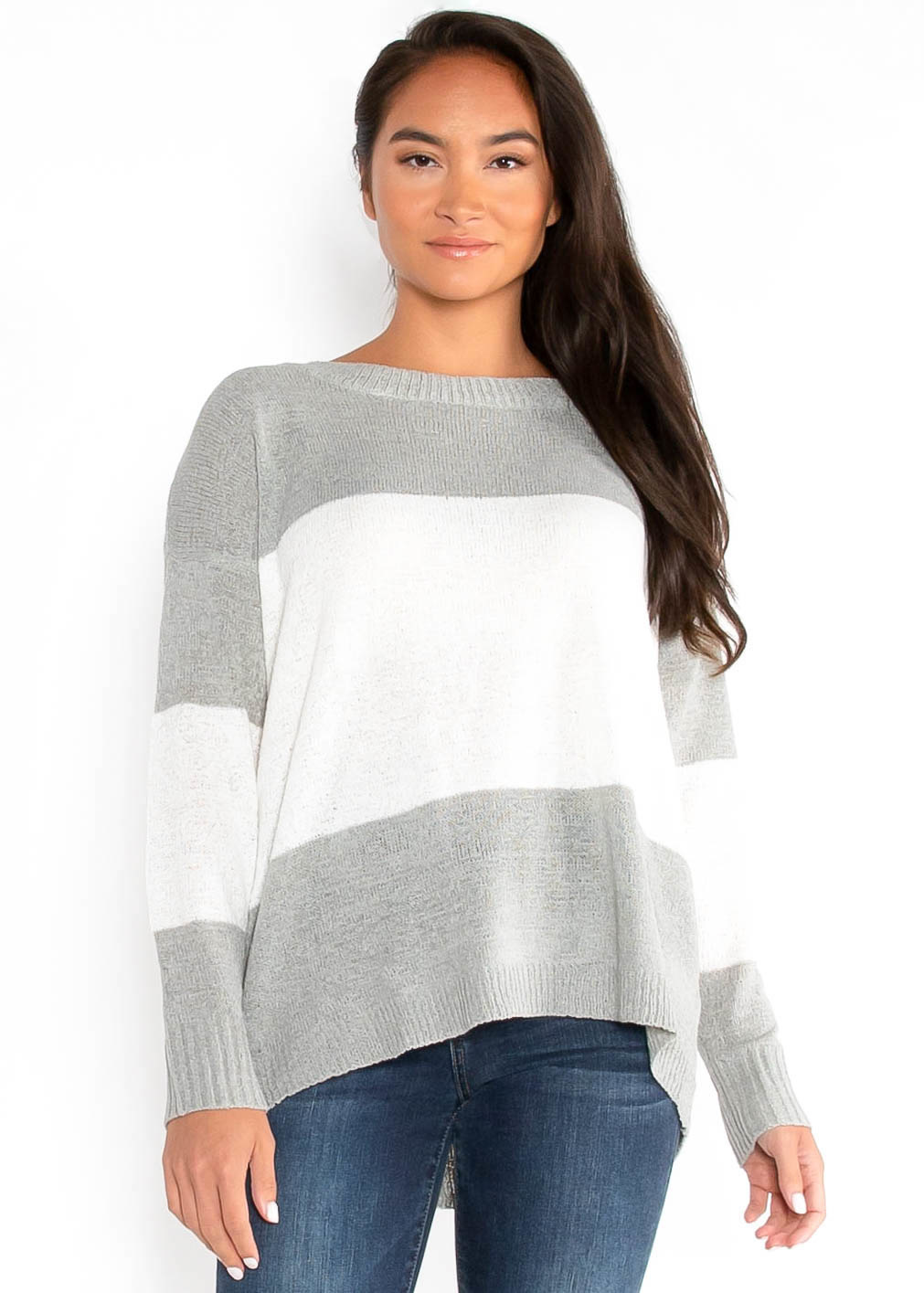 OPEN ROAD COLOR BLOCK SWEATER