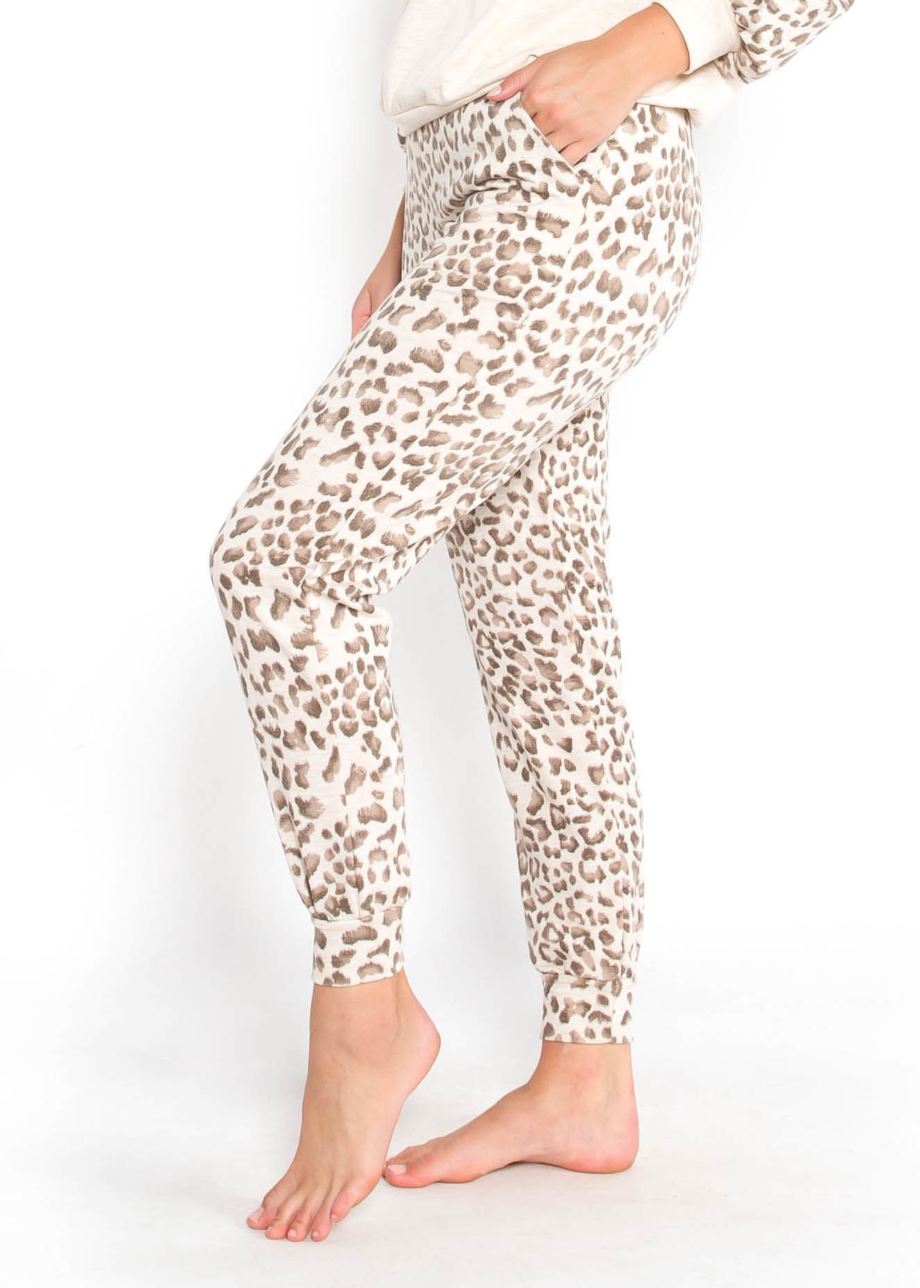 HOMEBOUND LEOPARD JOGGERS