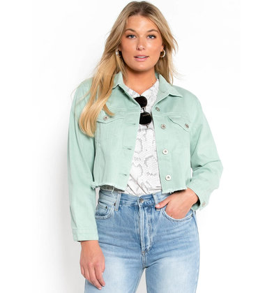 HOOKED ON YOU DENIM JACKET