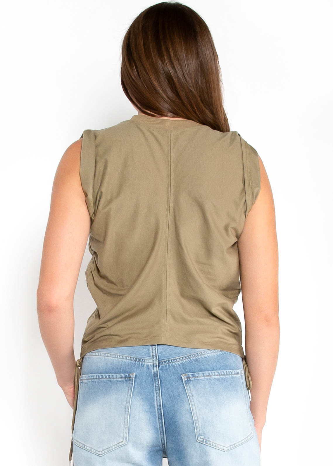 TOTAL CONTROL TANK TOP - OLIVE