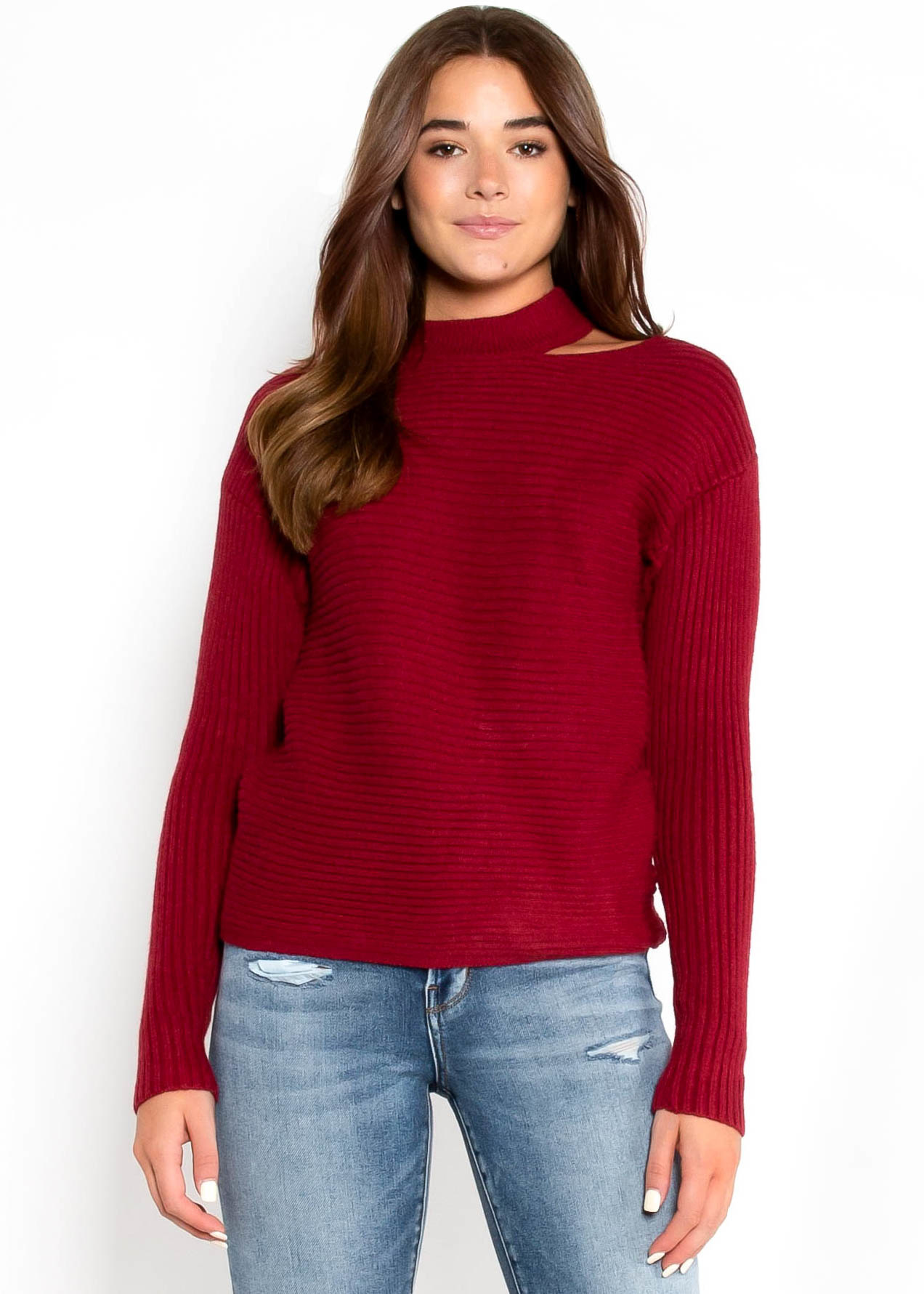 SOMEBODY TO LOVE SWEATER - RED