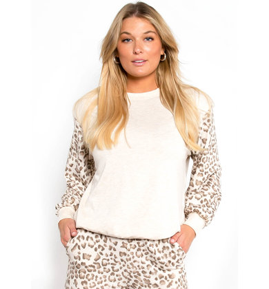HOMEBOUND LEOPARD PRINT TOP