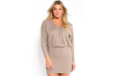 ALL OUT OF LOVE DRESS - TAUPE