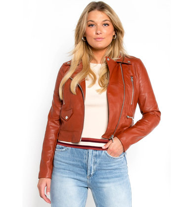 LEXI LEATHER JACKET - RUST