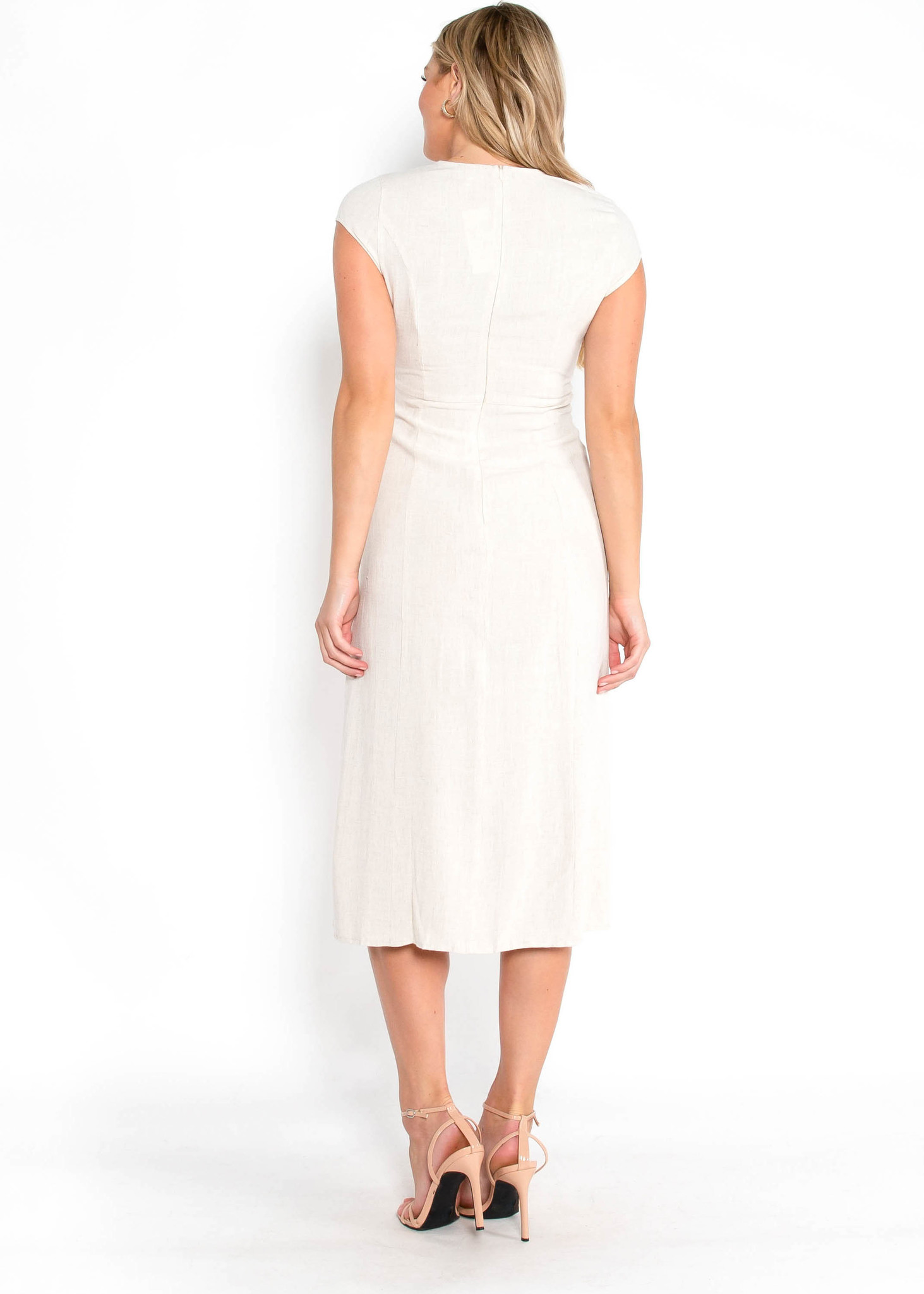 LONDON LINEN DRESS - CREAM