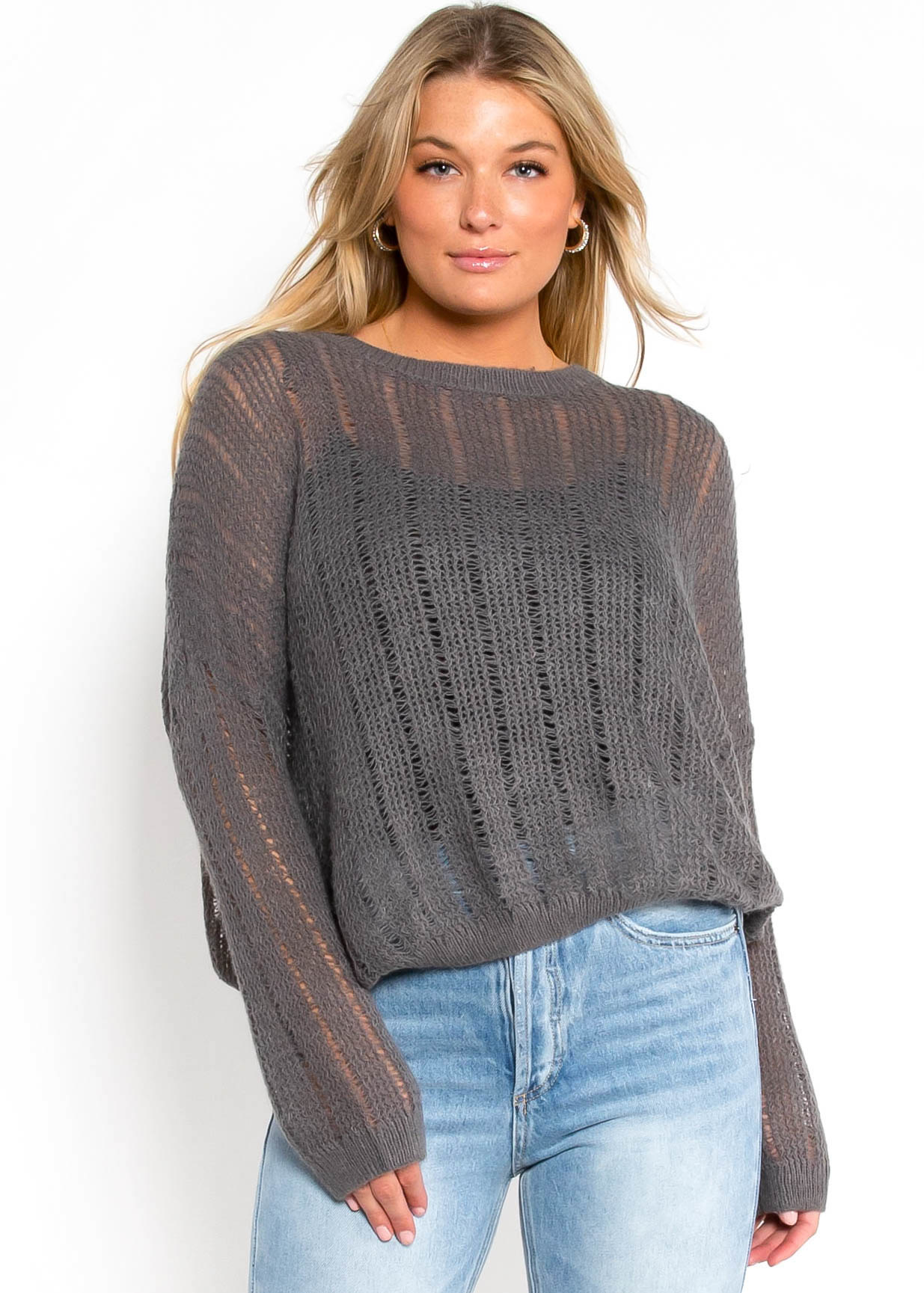 MIDTOWN OPEN KNIT SWEATER