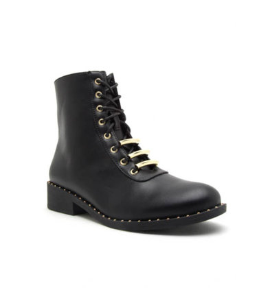 MADDOX STUDDED COMBAT BOOTS