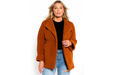 PUMPKIN SPICE TEDDY JACKET
