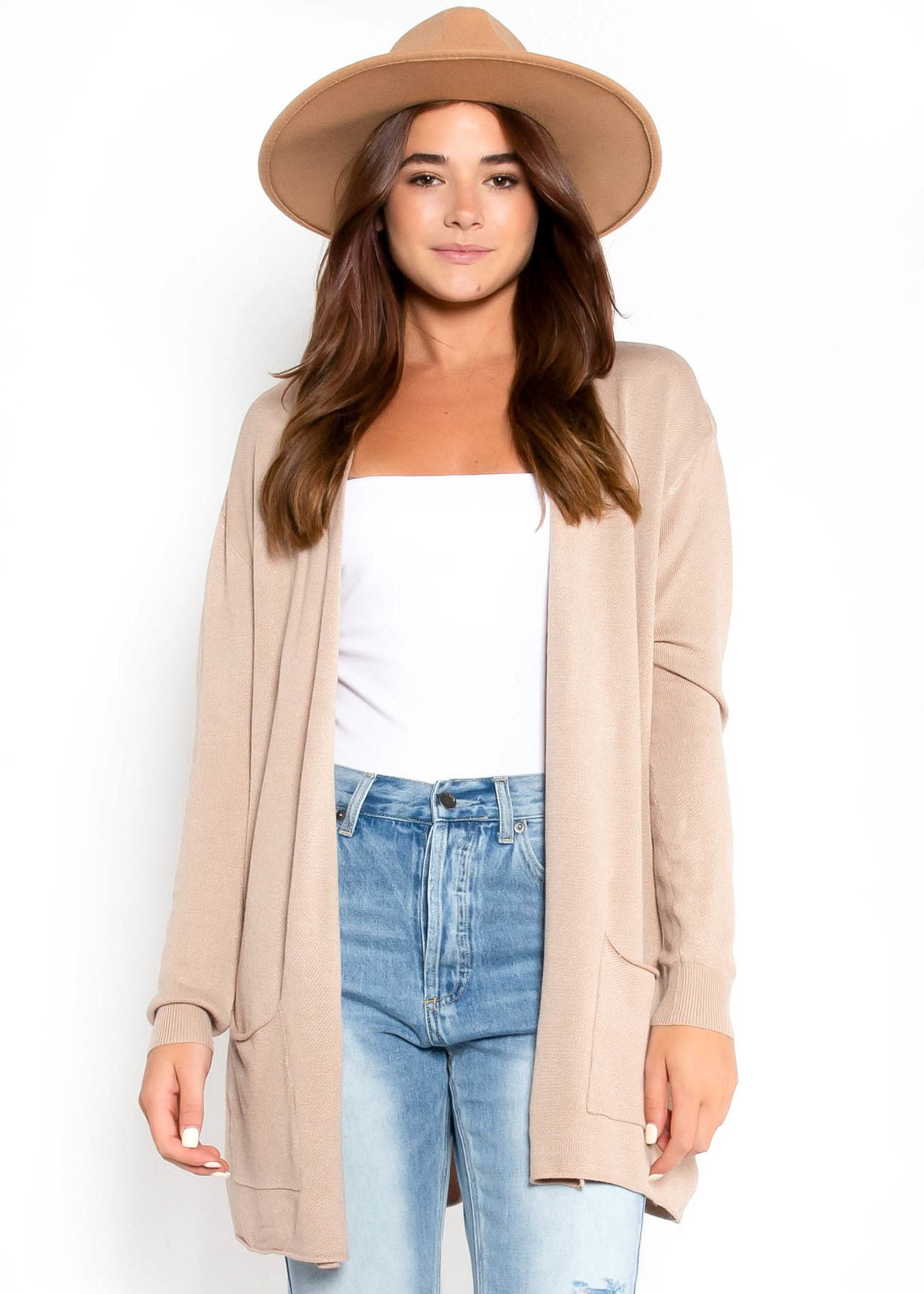 FRENCH ROAST TAUPE CARDIGAN