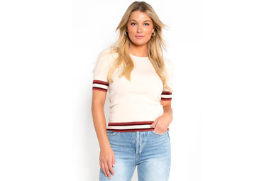 HOMECOMING CREAM KNIT TOP