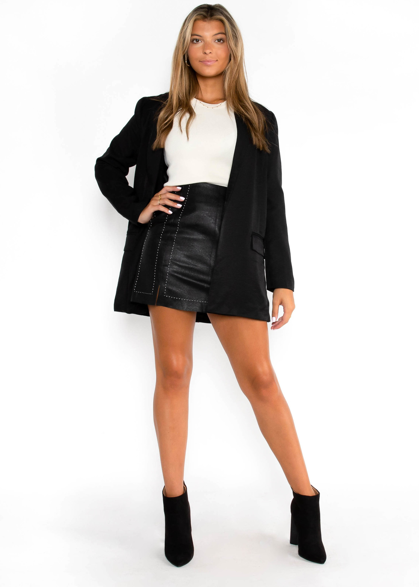 TREASURED GOLD BLACK BLAZER