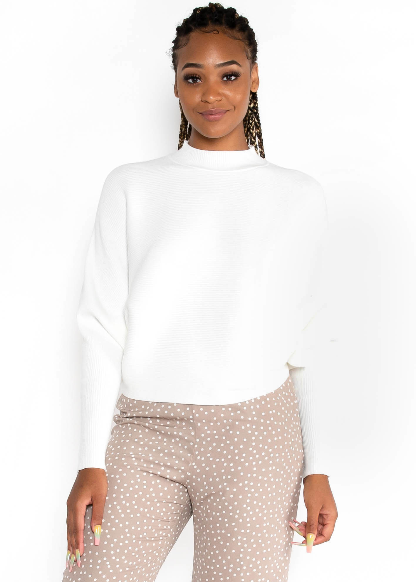 PARTY DON'T STOP SWEATER - IVORY