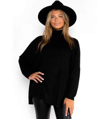 RIGHT ANGLE TUNIC - BLACK