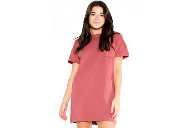 DAYBREAK T-SHIRT DRESS - ROSE