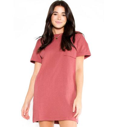 DAYBREAK T-SHIRT DRESS - ROSE