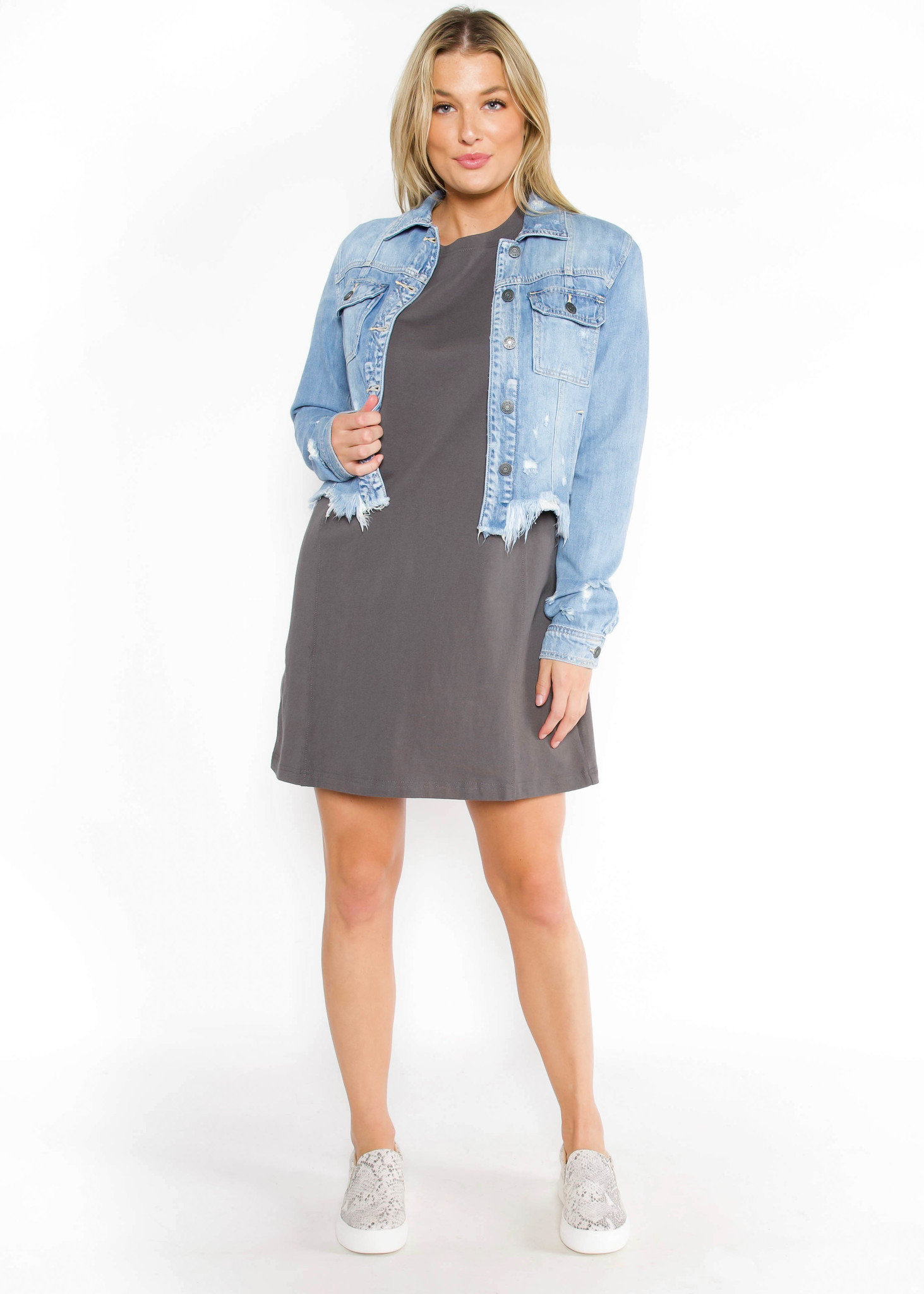 DAYBREAK T-SHIRT DRESS - GREY