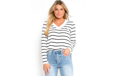 WHILE IN MAINE WAFFLE KNIT TOP