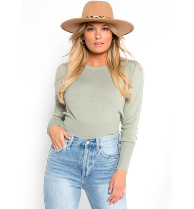 IVY LEAGUE SAGE KNIT TOP