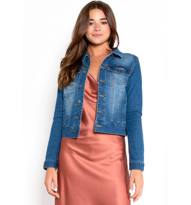 LEAVES FALLING DENIM JACKET