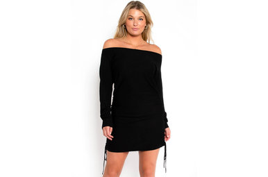 ALL IN BLACK LONG SLEEVE DRESS