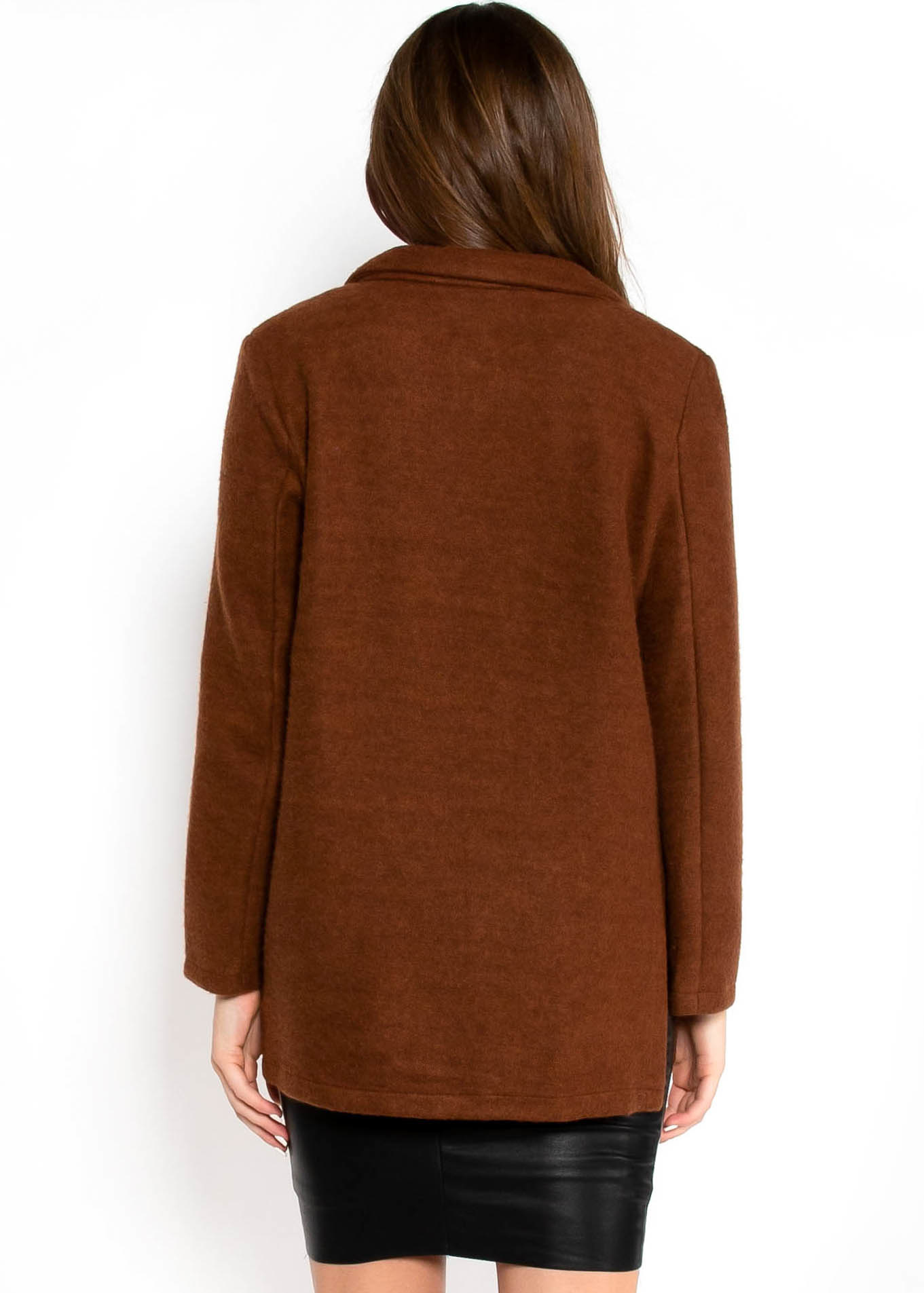 LEAVES CHANGING BROWN CARDIGAN