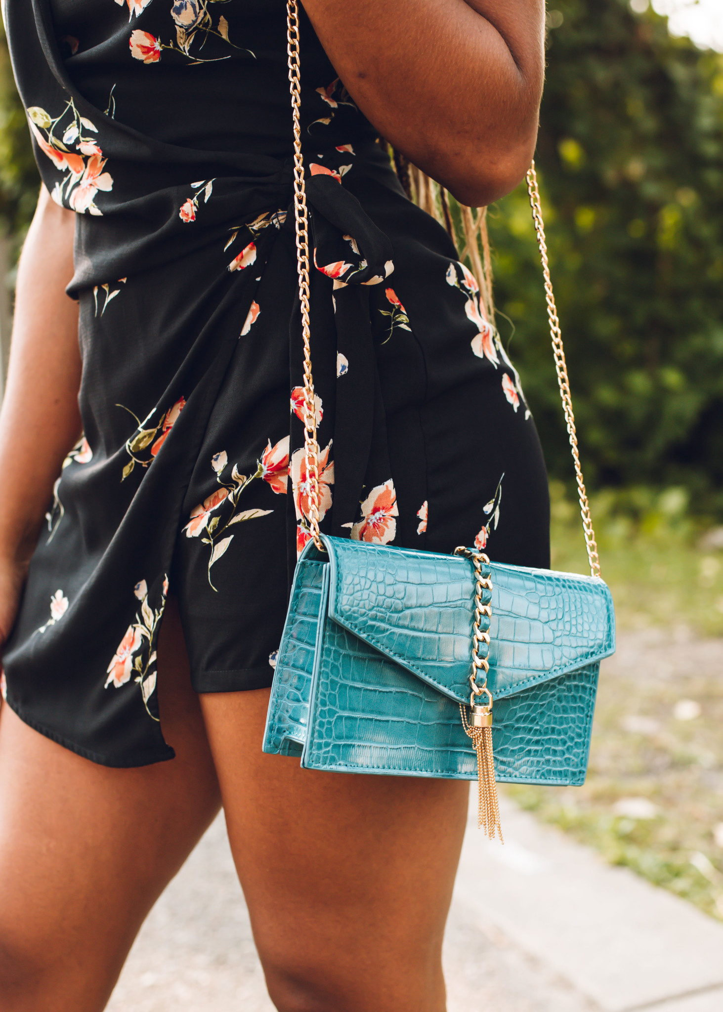 SWEET TALK TEAL CROSSBODY