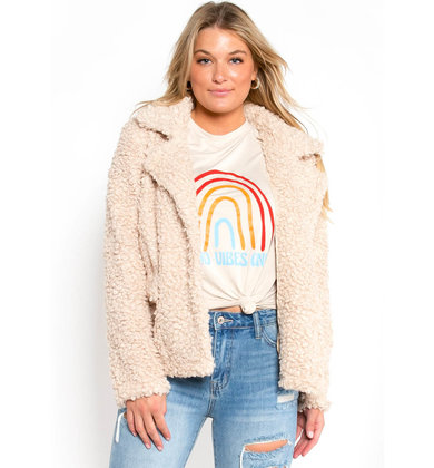 MONTANA TEDDY JACKET - CREAM