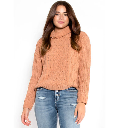 CHOOSE COZY SWEATER - CLAY