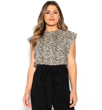 KINGDOM LEOPARD PRINT BLOUSE
