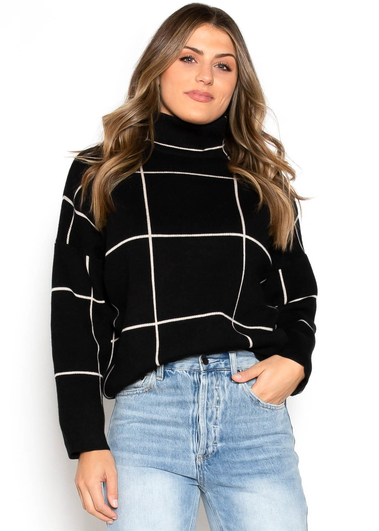 FEELS FOR FALL SWEATER - BLACK