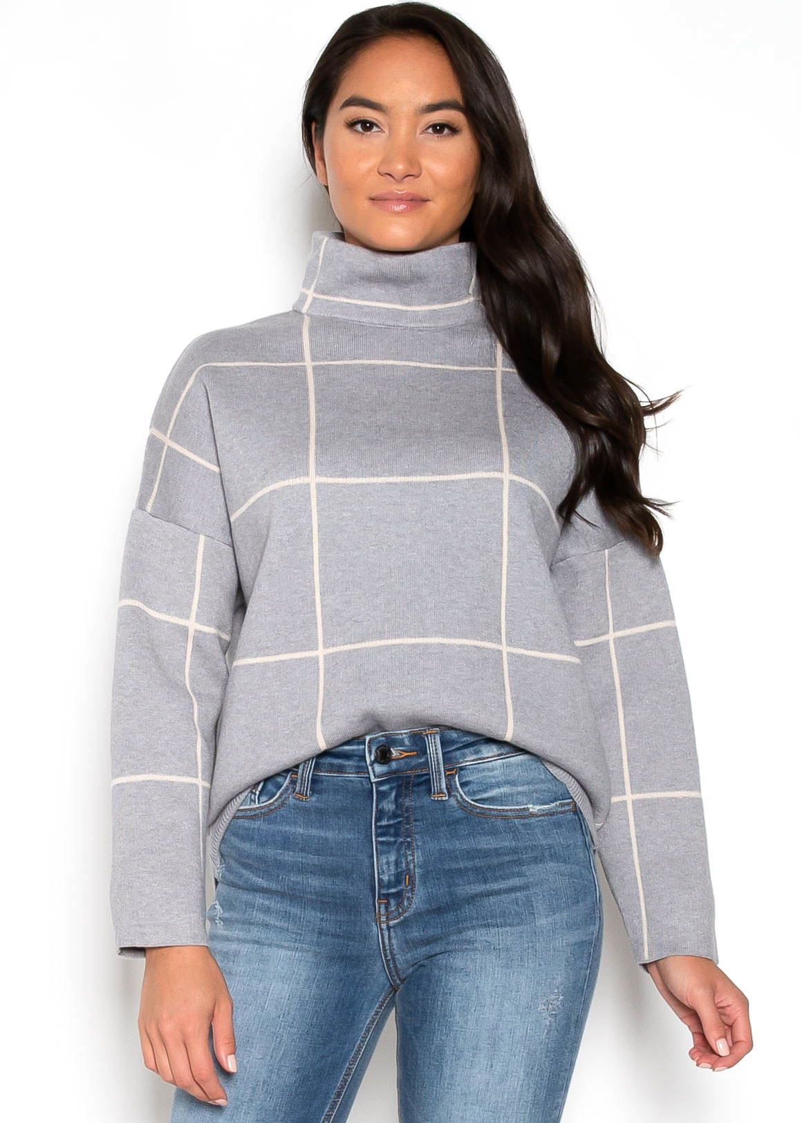 FEELS FOR FALL SWEATER - GREY