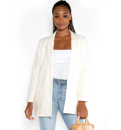 STEP IN LINE CREAM BLAZER