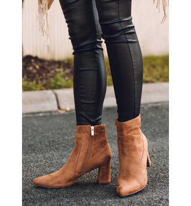 SET ON SUEDE CAMEL BOOTIES