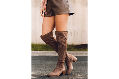 LUCKY LADY BOOTS - TAUPE