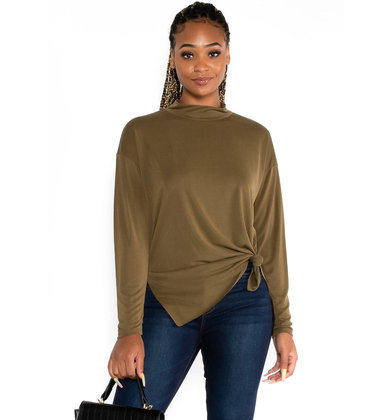 OAK + MAPLE MOCK NECK TUNIC