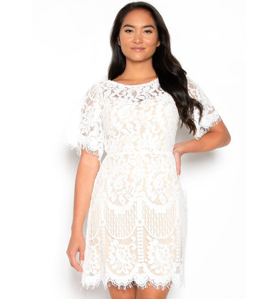 CALL IT LOVE WHITE LACE DRESS