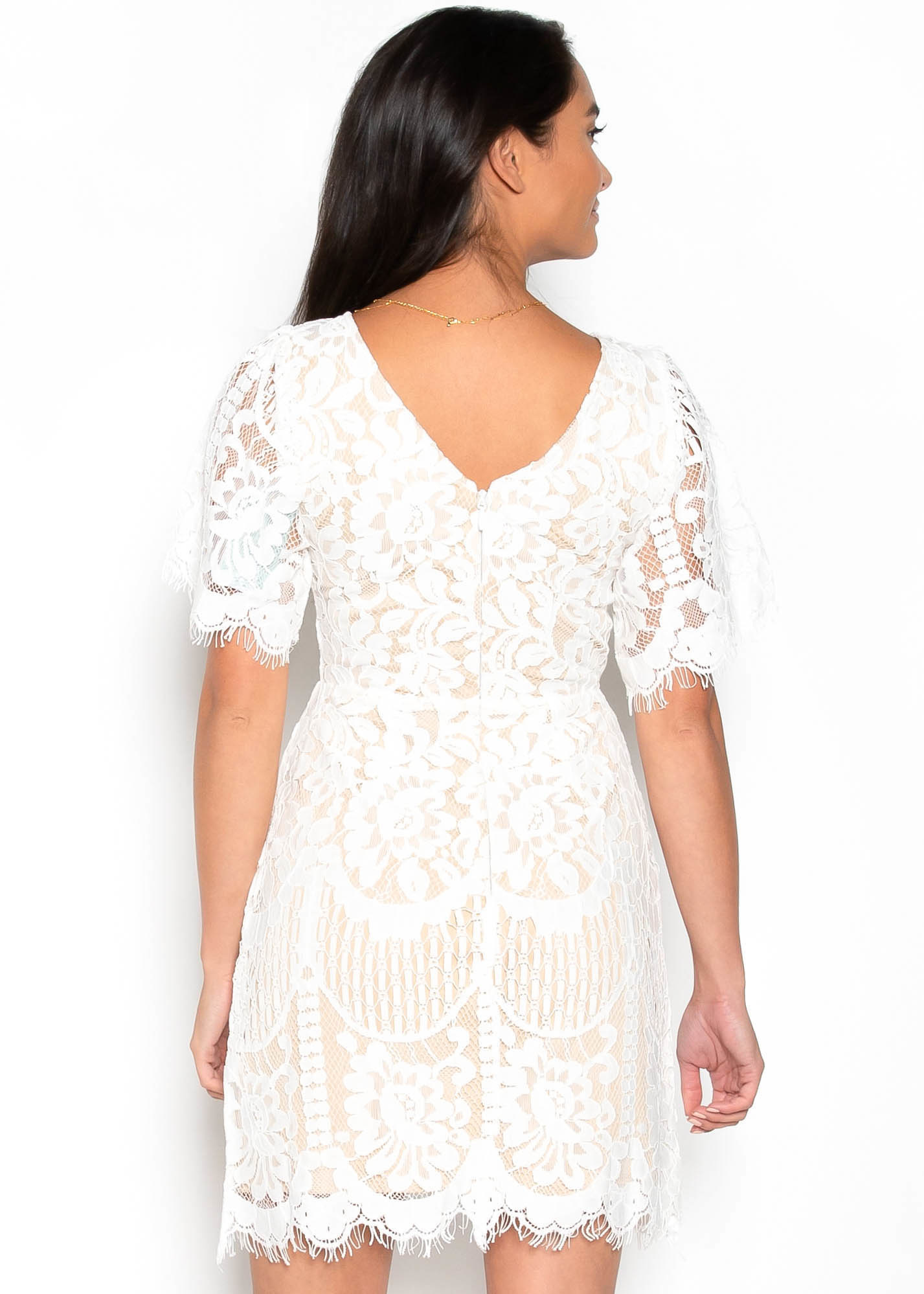 CALL IT LOVE WHITE LACE DRESS