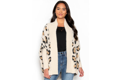 GOOD FOR IT LEOPARD CARDIGAN