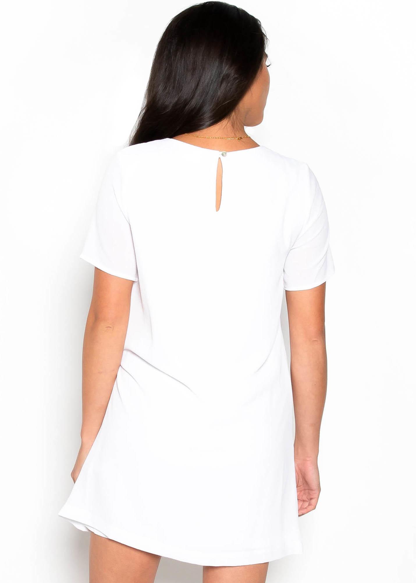 RAISE A GLASS WHITE DRESS