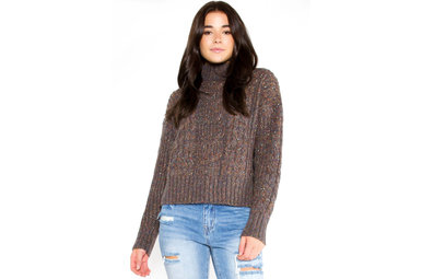 HARPER SPECKLED SWEATER - NAVY