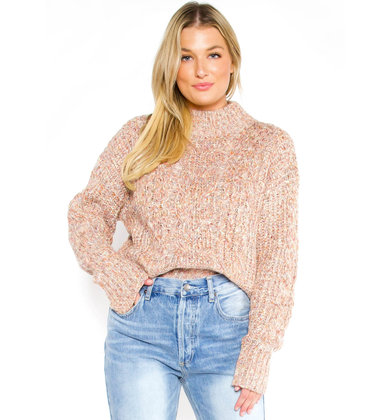 HARPER SPECKLED SWEATER - BLUSH
