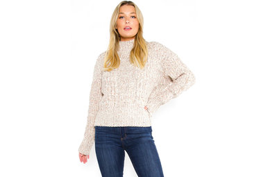 HARPER SPECKLED SWEATER - CREAM