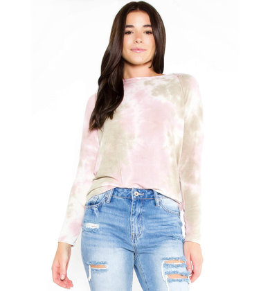 DO OR DYE CUTOUT TIE DYE TOP