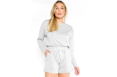 LET'S RELAX LONG SLEEVE ROMPER